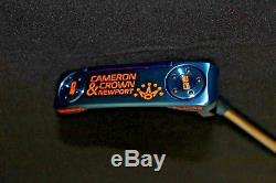 CUSTOM BLUE SCOTTY CAMERON & CROWN NEWPORT 33 RH Putter with Orange Paint