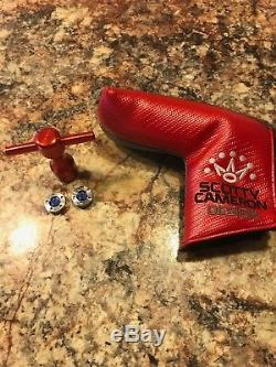 LH Scotty Cameron Studio Select Newport 2 35in head cover, weights and wrench