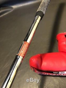 NEW SCOTTY CAMERON TITLEIST PRO PLATINUM Newport Mil-Spec 3 RED DOTS golf Putter