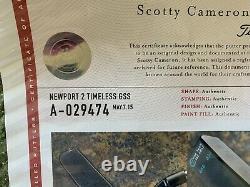 Rare! Scotty Cameron Circle T Full GSS NOT INSERT Newport 2 in Tour Black 350gm