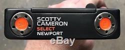 Scotty Cameron 2016 Select Newport Putter MINT RH Tour Black Finish TAF