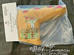 Scotty Cameron 2020 Caddies Creed Masters Gold Putter Headcover Rare Limited