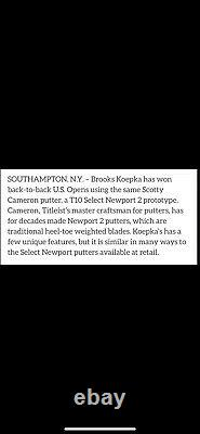 Scotty Cameron Button Back Tour Only T10 Newport 2. SUPER RARE