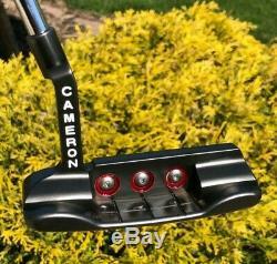 Scotty Cameron Circle T Tour Black Newport Button Back Terrylium T10 Putter