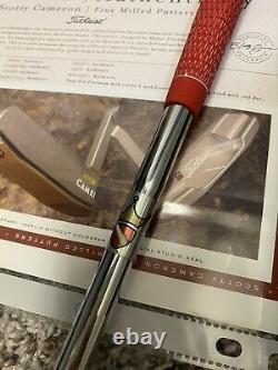 Scotty Cameron Circle T Tour Only Pro Platinum Newport II 350g Head w Red Dot