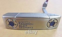 Scotty Cameron Custom Shop Select Newport 2 Translucent Blue 34 H Free Ship