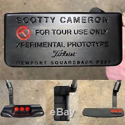 Scotty Cameron For Tour use Only Xperimental Prototype Squareback Putter New