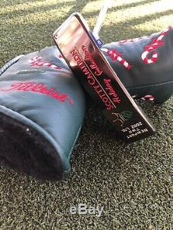 Scotty Cameron Limited Release 2002 Holiday Putter With Candy Cane Headcover