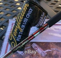 Scotty Cameron Raw Tour T22 Newport Terylium Circle T Putter with cover -NEW