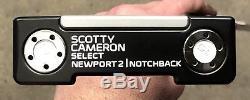 Scotty Cameron Select Newport 2 Notchback Putter NEW RH Tour Black -RRS