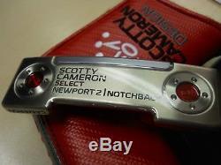 Scotty Cameron Select Studio Design Newport 2 Notchback Putter (brand New)