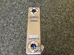 Scotty Cameron Studio Select Newport 2 Custom Shop Finish Blue Putter with Cover
