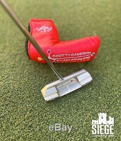 Scotty Cameron Studio Stainless Newport 2 Centershaft Prototype withhdcvr & COA