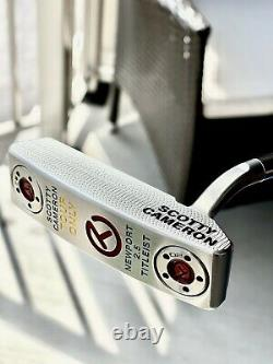 Scotty Cameron TOUR ONLY Circle T Newport 2.5 White Splash Headcover INCLUDED