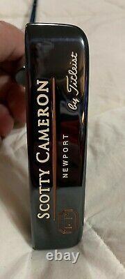 Scotty Cameron Tei3 SOLE STAMP Newport, Nos Pebble Grip, Nos Headcover