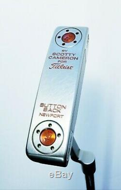 Scotty Cameron Titleist Newport Buttonback Putter-Jackpot Johnny-35-RH-Orange
