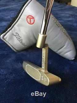 Scotty Cameron VIP Tour Pro Platinum Newport Tei3 Putter with Circle T Headcover